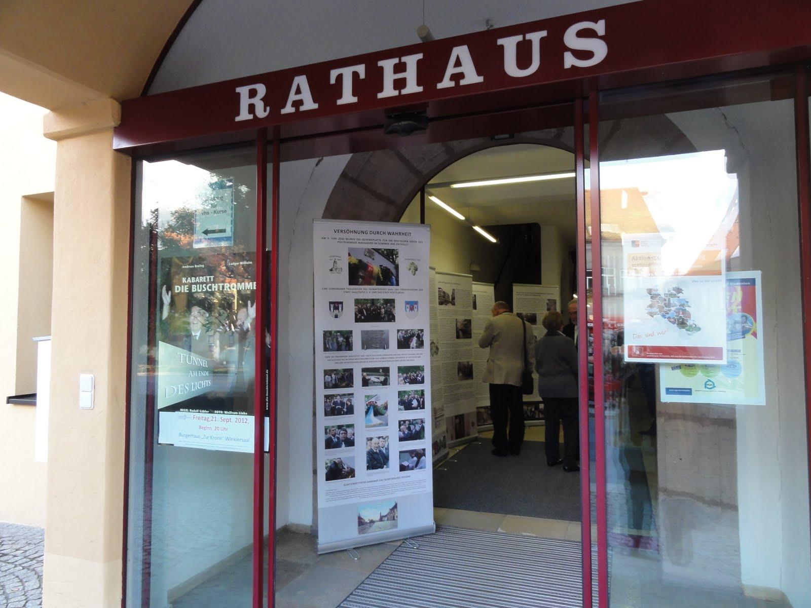 Rathaus Georgensgmünd, Eingang zur Ausstellung